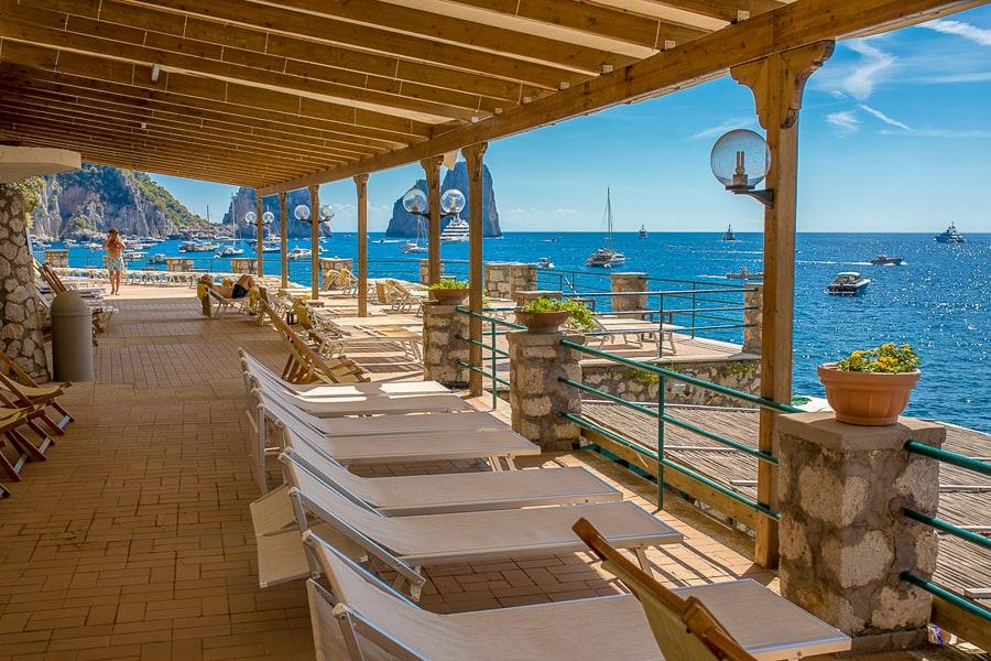La Canzone Del Mare Stabilimento E Ristorante Sul Mare Capri